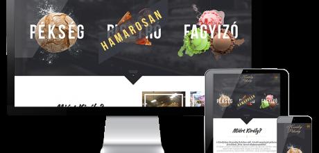 Kiralypeksegszigetvar.hu pékség és fagyizó reszponzív weboldal készítés