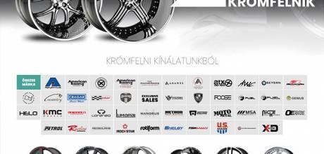 Kromfelni.hu - Egyedi és luxus krómfelnik - reszponzív honlapkészítés