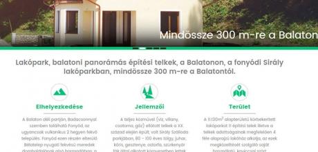 Lakoparkfonyod.hu mobil barát bemutatkozó honlap készítés