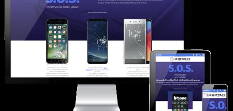 Lcdszerviz.hu - Samsung és iPhone szerviz reszponzív weboldalának készítése