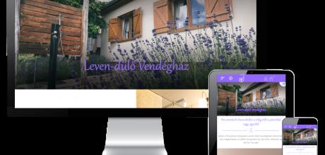 Levendulo.hu - Levendülő Vendégház - reszponzív webáruház készítés