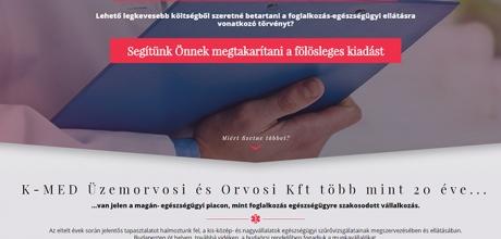Foglalkozasegeszsegugy.hu reszponzív bemutatkozó honlap készítése