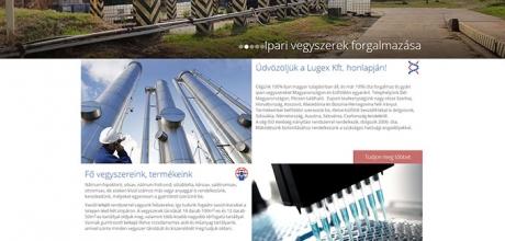 A pécsi Lugex Kft. cégismertető weboldalának elkészítése