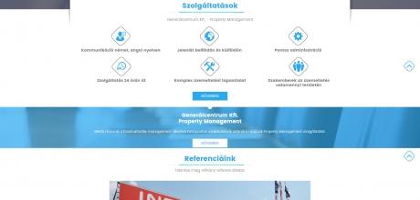 Generálcentrum.com reszponzív honlap készítés