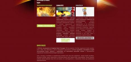 Fireball.hu tűzvédelmi cég bemutatkozó weboldala