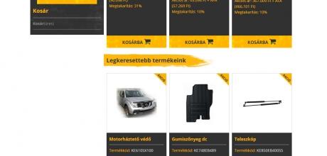 Navarawebshop.hu webáruház megújítása, re-design