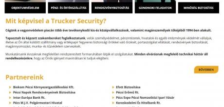 Trucker.hu reszponzív bemutatkozó céges honlapkészítés