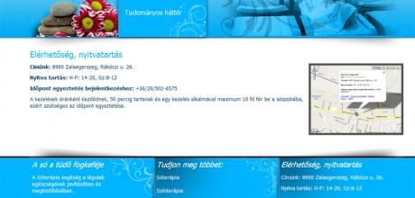 zalasoterapia.hu weboldal elkészítése