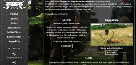 Batajagd.hu vadásztársaság weboldal készítése