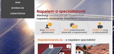 Napelemszerelo.hu céges bemutatkozó honlap készítés