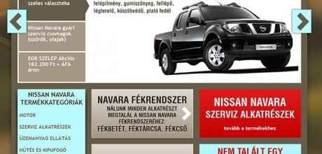 Nissan Navara alkatrész webáruház