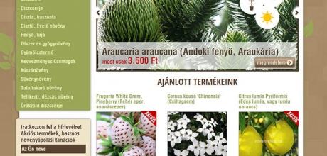 növényshop.hu webáruház elkészítése