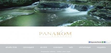 panarom.hu weboldal programozása