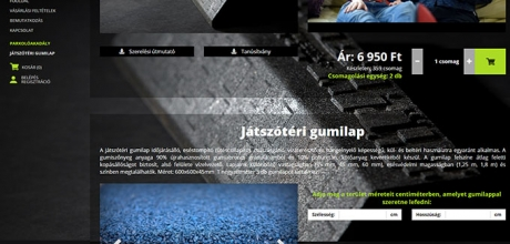 Parkoloakadaly.hu reszponzív termék bemutató webshop készítése