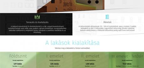 Pecsiujlakas.hu reszponzív bemutatkozó weboldal