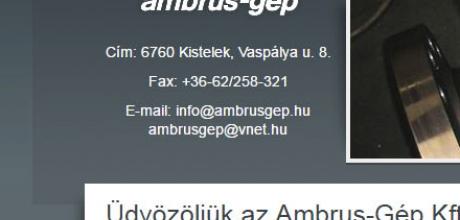 honlapkészítés: ambrusgep.hu