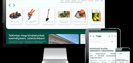Pecsiagroker.hu - Kertészeti áruház - Reszponzív webáruház készítés