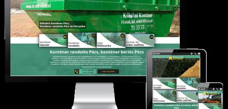 Kohalmikontener.hu mobilbarát bemutatkozó honlap tervezés