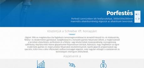 Schreiber.hu lemezmegmunkáló, reszponzív honlap készítése