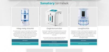 Sanatory.hu termékbemutató weboldal