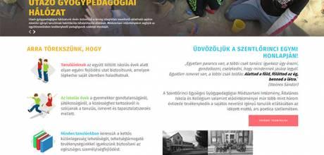 Szentlorincegymi.hu általános iskola és kollégium bemutatkozó reszponzív weboldal készítés