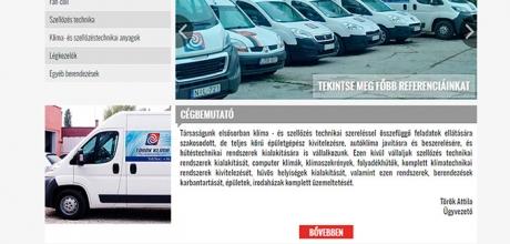 Torokklima.hu reszponzív bemutatkozó honlap készítés