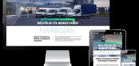 Umbratrans.hu - Fuvarszervező, Fuvarozás külföldre és belföldre - reszponzív honlapkészítés