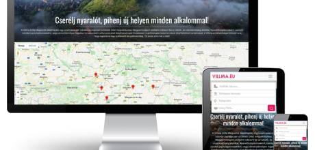 Villma.eu - Cserélj nyaralót! - reszponzív honlapkészítés