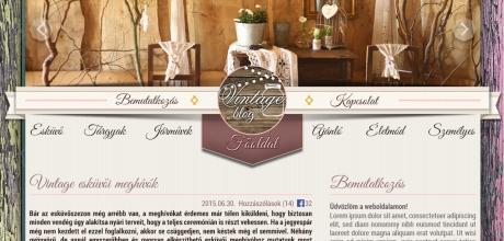 Vintageblog.hu reszponzív blog elkészítése