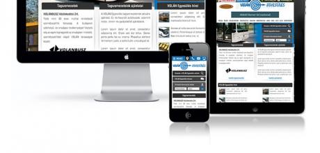 Volán Egyesülés weboldalának elkészítése