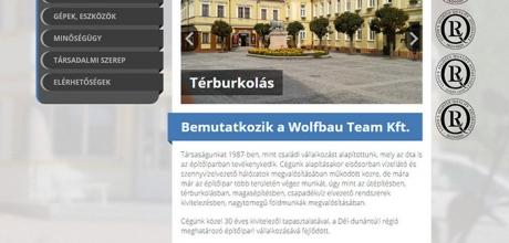Wolfbauteam.hu céges bemutatkozó weboldal készítés