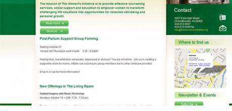 The Women's Initiative weboldalának XHTML és CSS tervezése