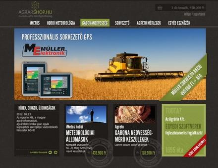 agrarshop.hu webáruház készítés