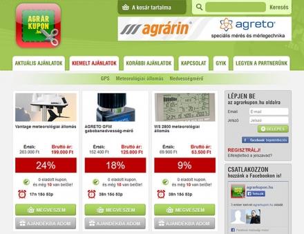 agrarkupon.hu kuponos oldal elkészítése