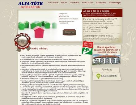 alfatoth.hu weboldalának megújítása