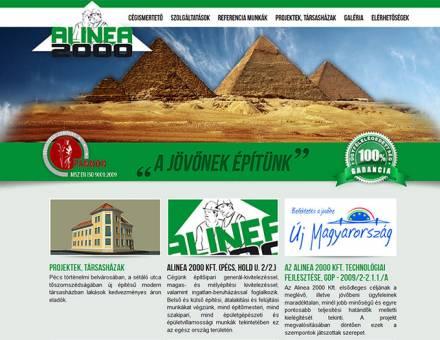 alinea2000.hu céges weboldalának megújítása