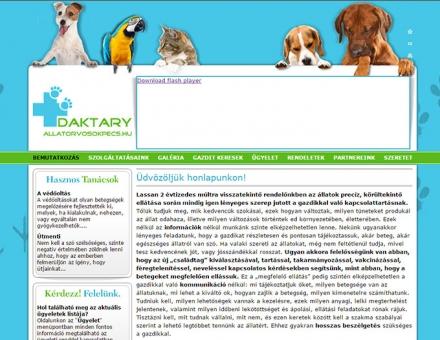allatorvosokpecs.hu weboldal készítés