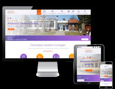 Almamellekiskola.hu - Almamellék-Somogyhárságyi Általános Iskola és Kollégium - reszponzív honlap készítés