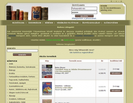 antiquebook.hu online antikvárium