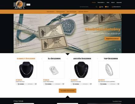 Apacsekszer.hu - Apacs Ékszer reszponzív webáruház készítés