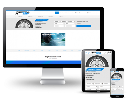 Autogumi.shop.hu - Új gumi és felni értékesítés - reszponzív webáruház készítés