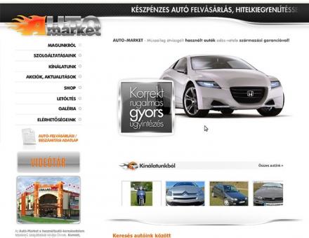 auto-market.hu honlap módosítási munkái