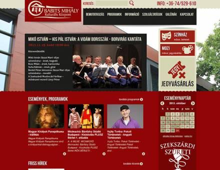 Babits Mihály Kulturális Központ Szekszárd weboldalának elkészítése