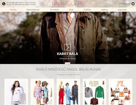Bálagold.hu mobil barát bemutatkozó honlap készítés
