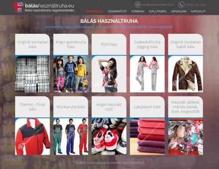 Balashasznaltruha.eu céges bemutatkozó honlap készítés