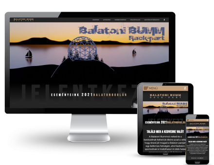 Balatonibumm.hu - Strandfoci, strandkézilabda Balatonbogláron és Lellén - reszponzív honlap készítése