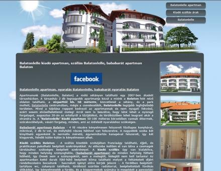 Balatonlelle-kiado-apartman.hu weboldal tervezés