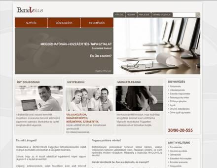 benevolus.hu weboldal készítés