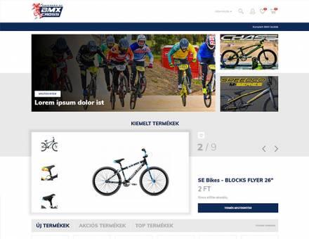 Bmxcross.hu - BMX Cross kerékpárok és alkatrészek - reszponzív webáruház készítés