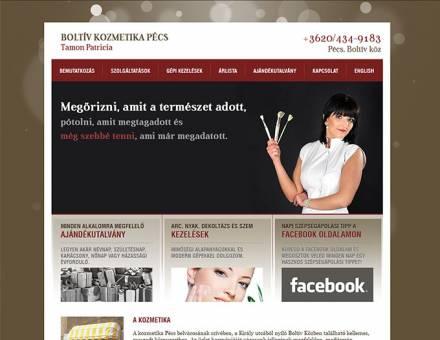 boltivkozmetikapecs.hu bemutatkozó honlap készítése